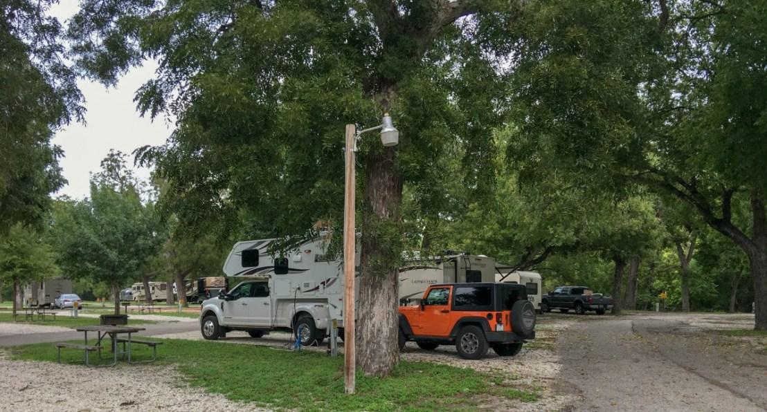 San Antonio KOA Pecan Trees Over Our Campsite