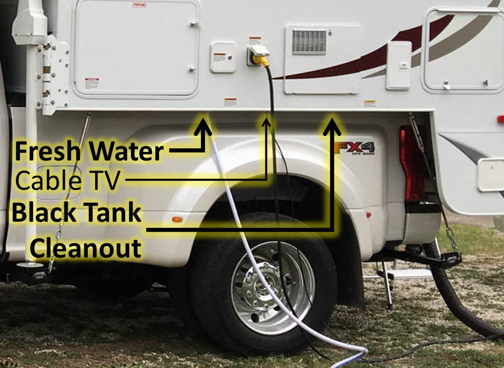 Truck Camper Fresh Water Hookup