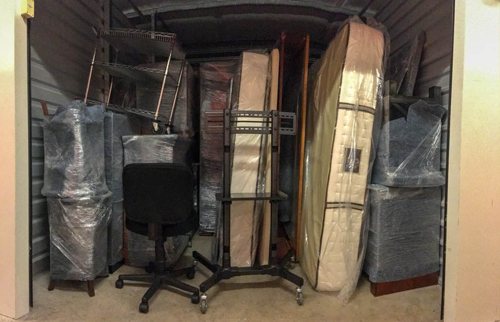 Upstairs Packed Into 10 By 15 Storage Unit
