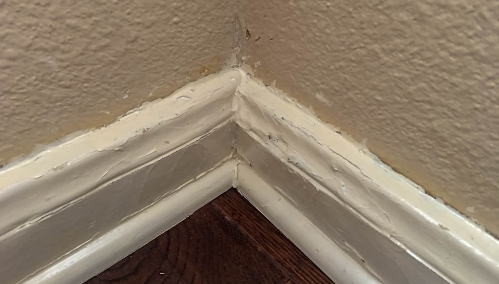 Interior Water Damage In Dining Room