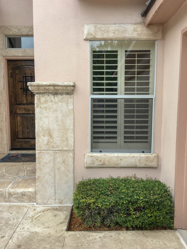 Fancy Stucco Work At Front of House