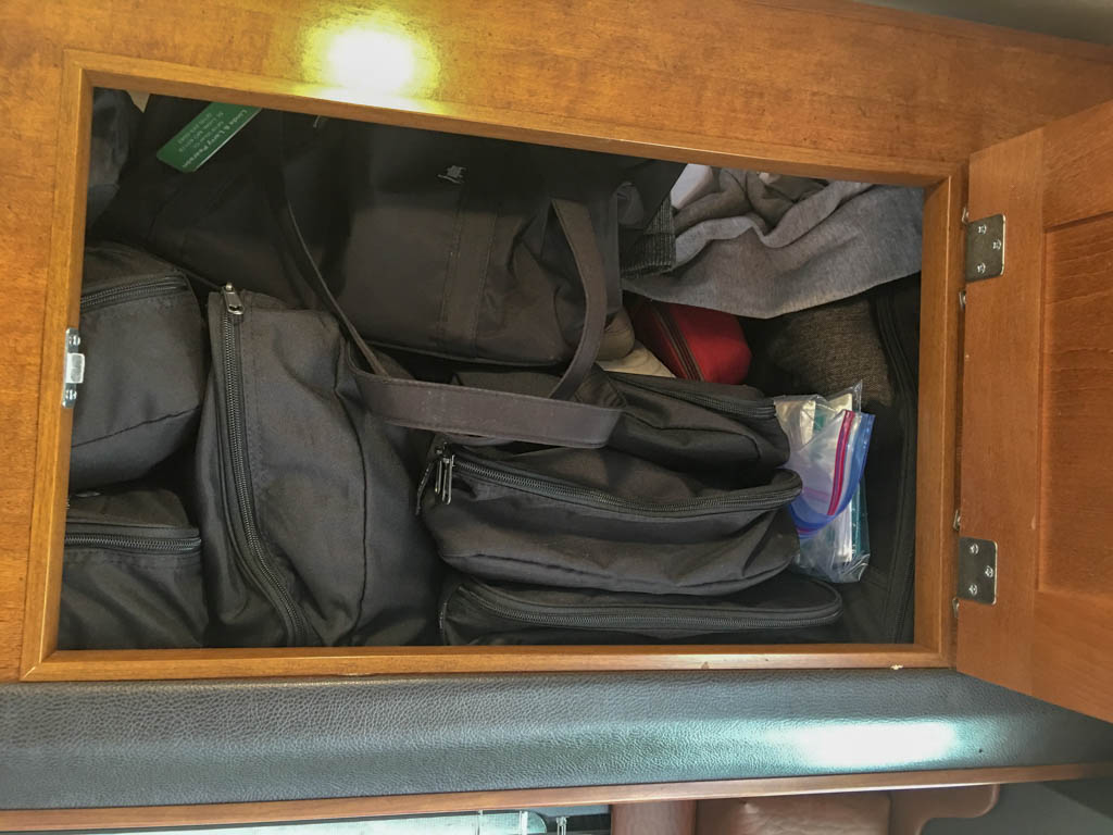 Clothes Packed in Cubes (Bags)