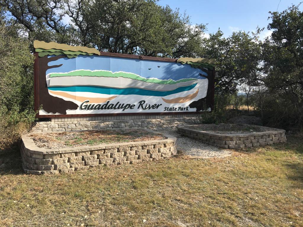 Guadalupe River State Park Entrance Signage