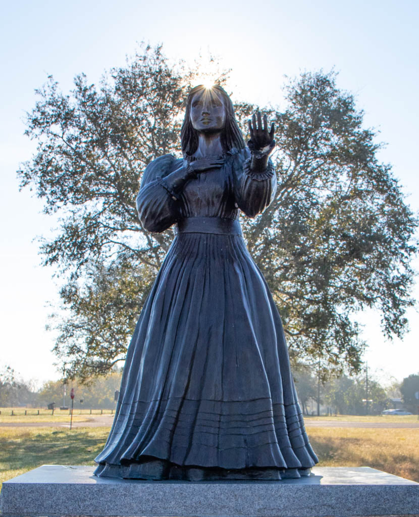 Angel of Goliad Statue Near Fannin Monument
