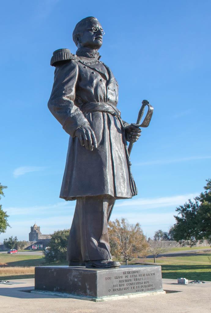 General Ignacio Zaragoza Statue Near Angel of Goliad