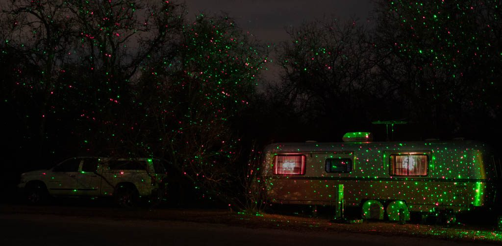 Avion Trailer Decorated For Christmas