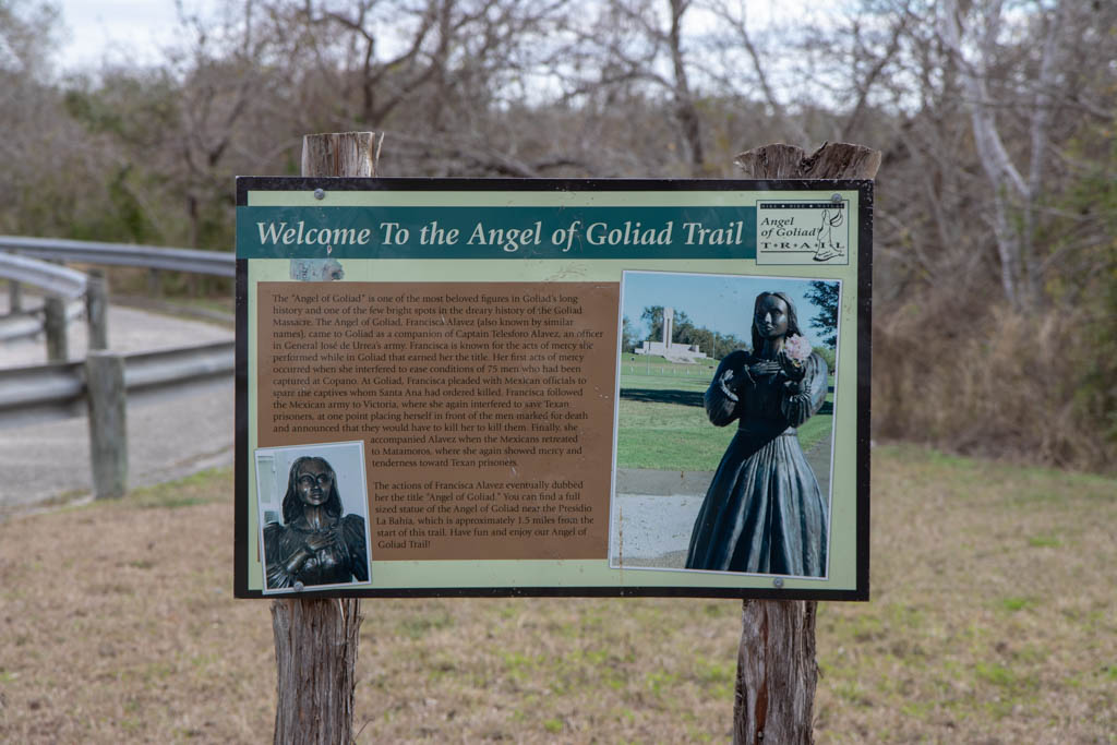 Angel of Goliad Sign