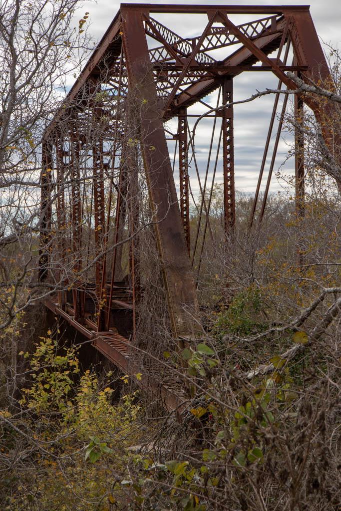 Abandoned Railroad Bridge Over San Antonio River