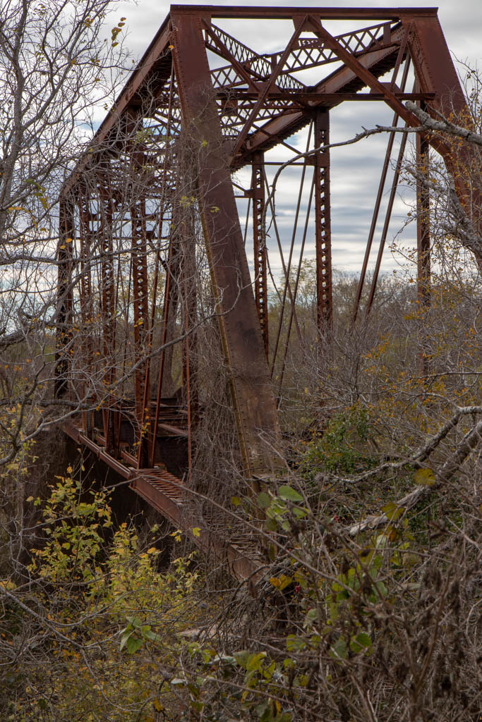 Abandoned Railroad Bridge Over San Antonio River