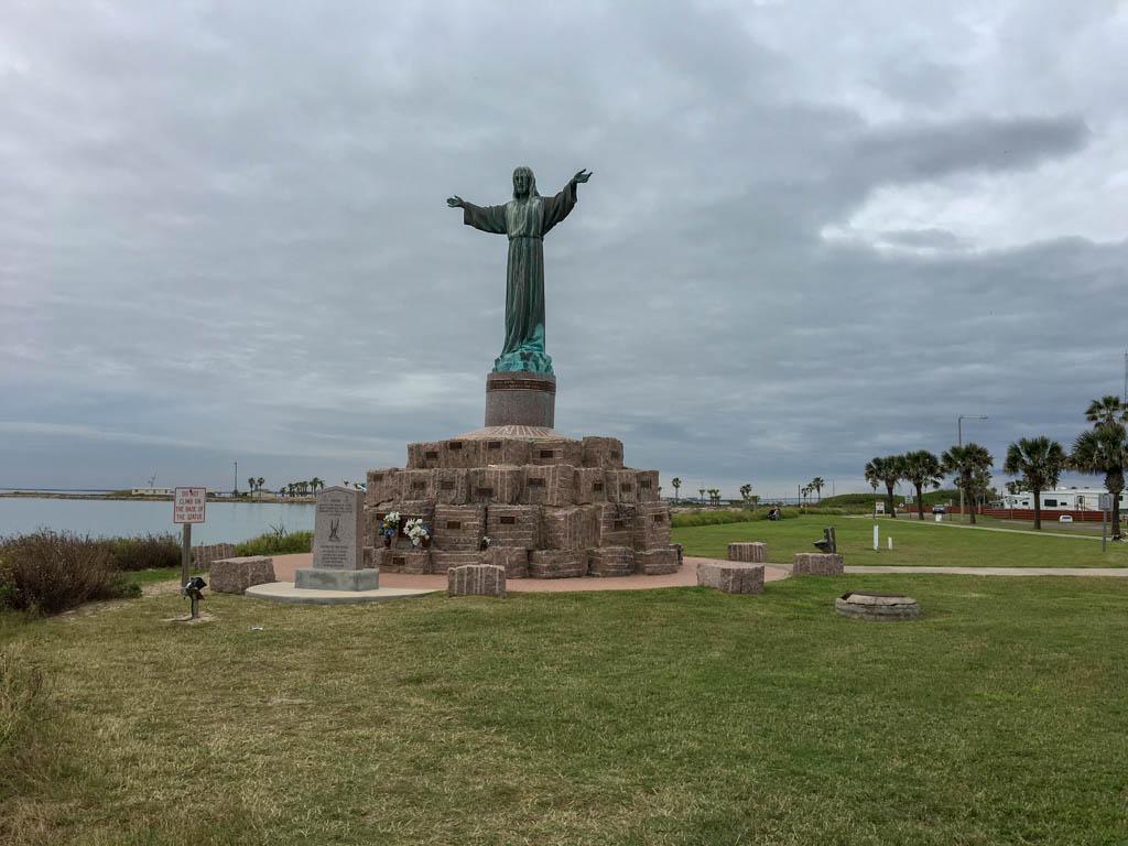 Cristo de los Pescadores Statue at Isla Blanca Park