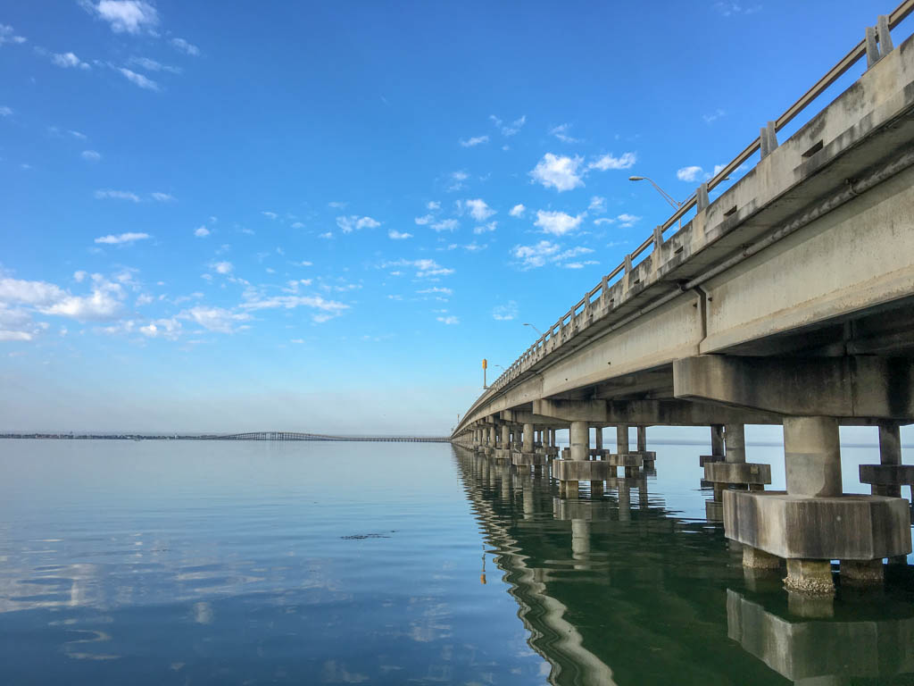 Under The Queen Isabella Causeway - South Padre Island End