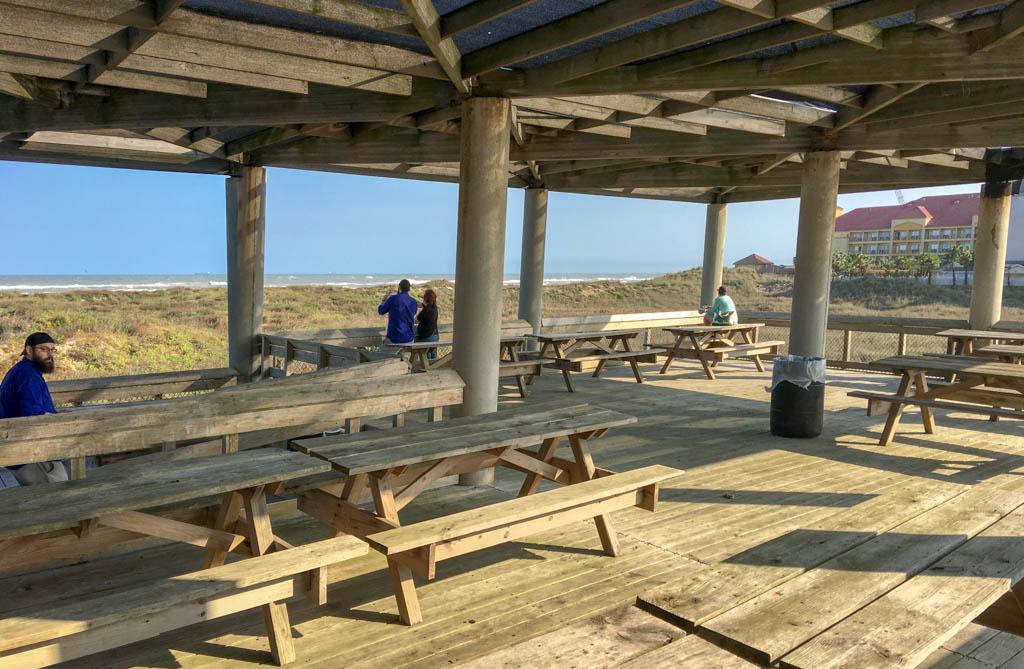 Pavilion Facing The Ocean