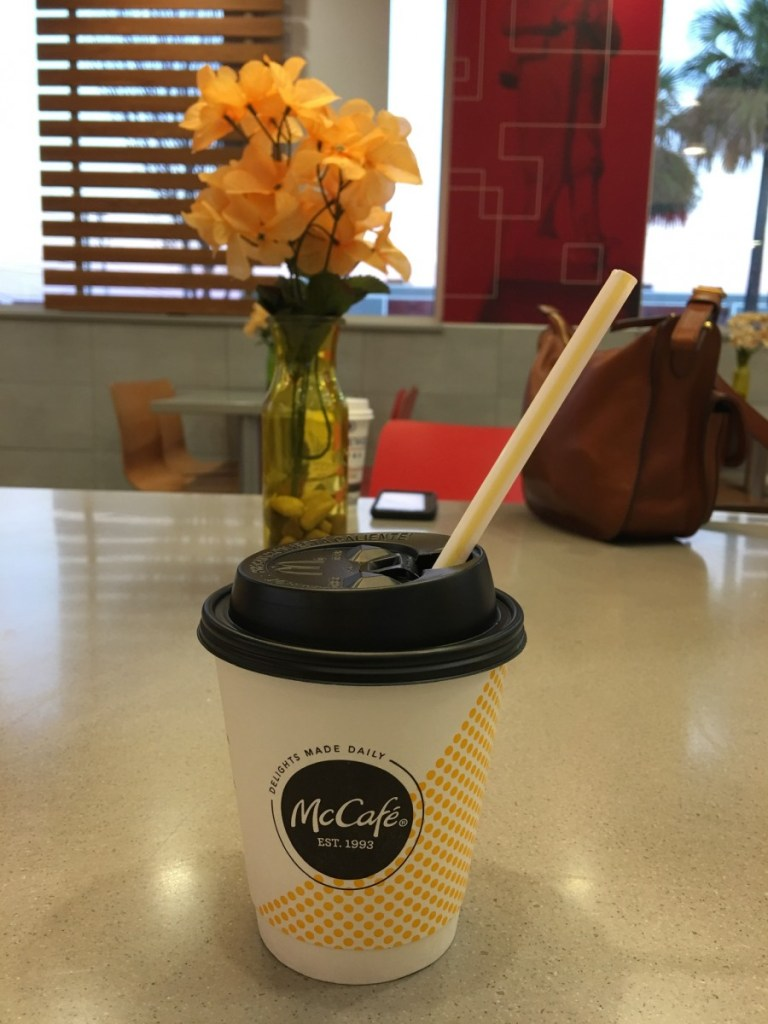Hot Coffee + Straw = Cool Sips