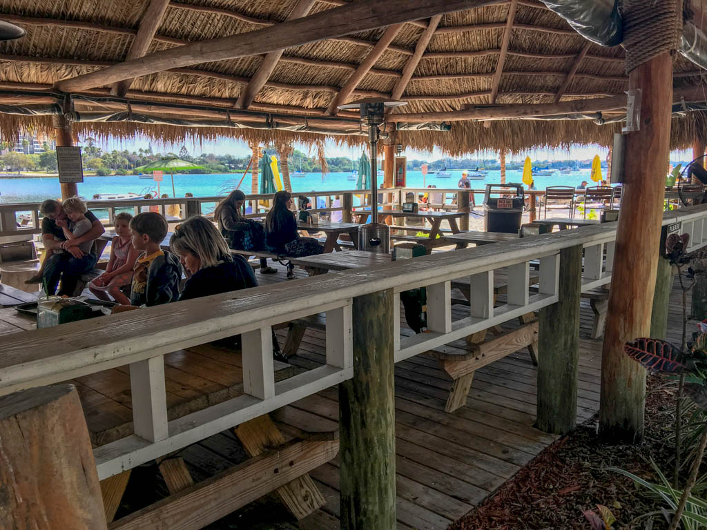 O'Leary's Tiki Bar & Grill Outdoor Dining Area