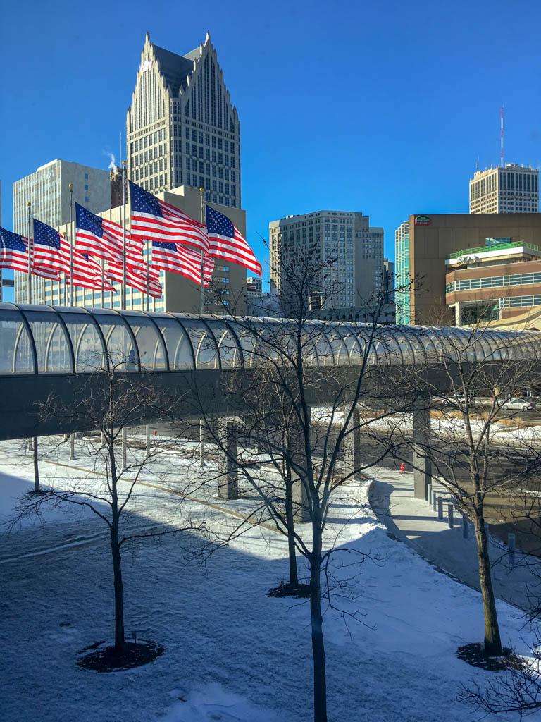 Sky-Bridge Between GMRENCEN And Marriott Courtyard