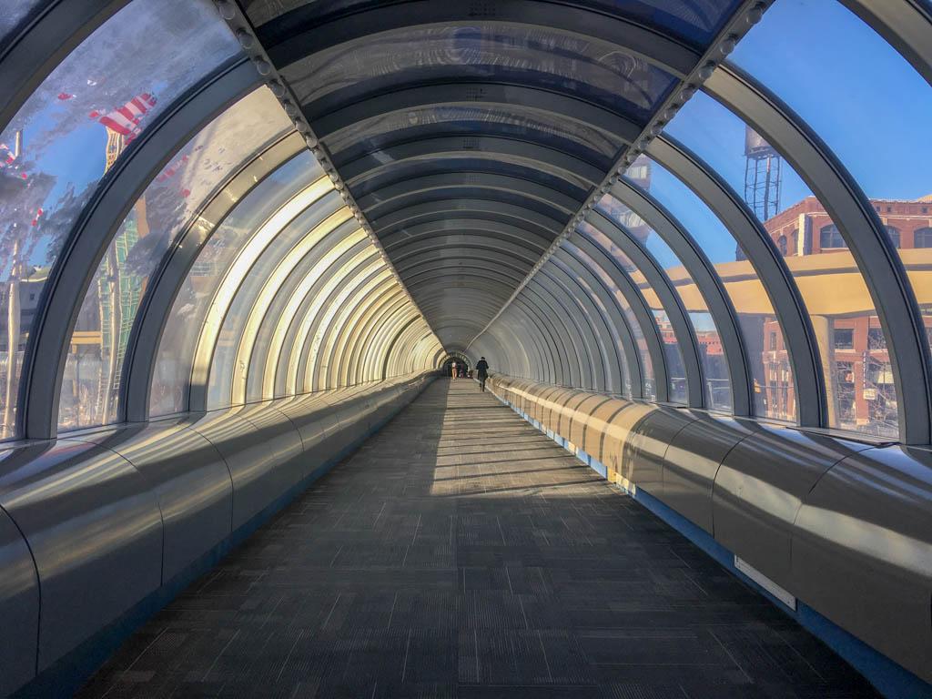 Inside The Sky-Bridge On The Marriott Courtyard Side