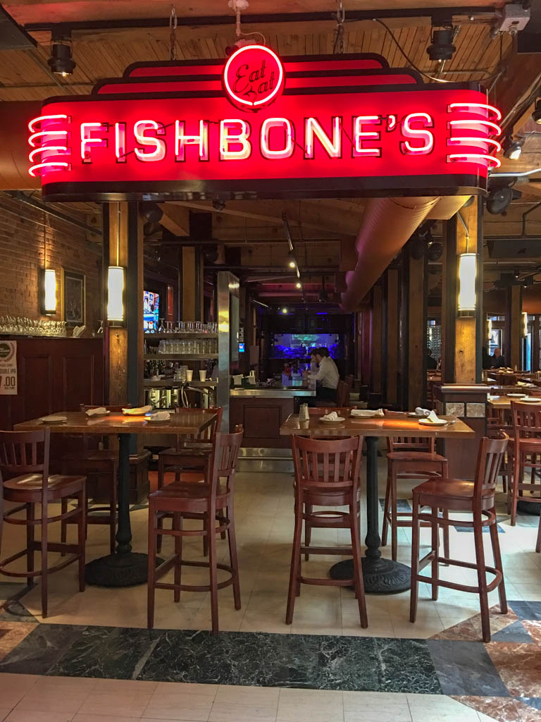 Non-Existent Lunch Crowd At Fishbone's