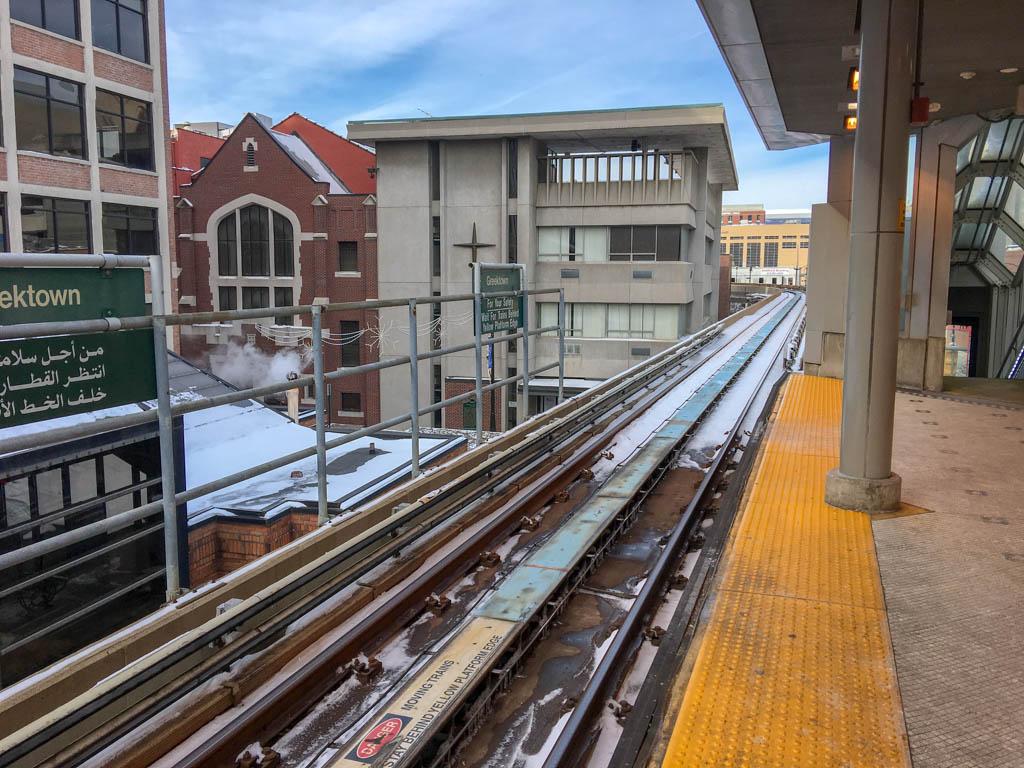 Greektown People Mover Station Platform