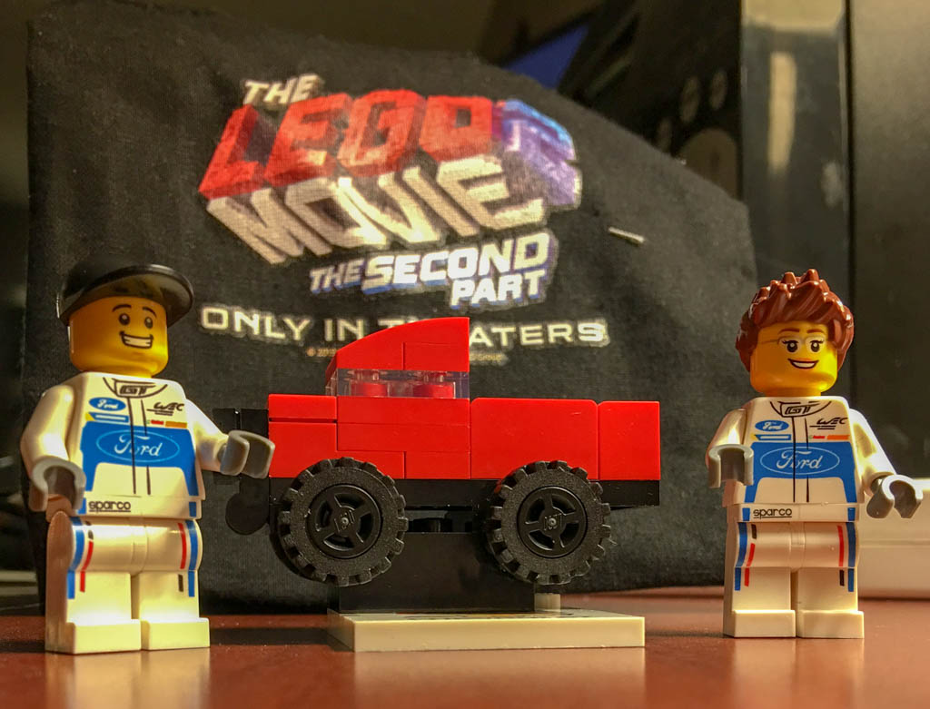 Chevy and Ford Lego Bits Together
