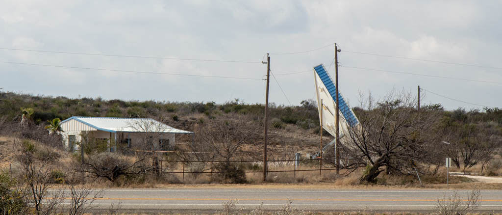 Dilapidated Gas Station East of Pecos River