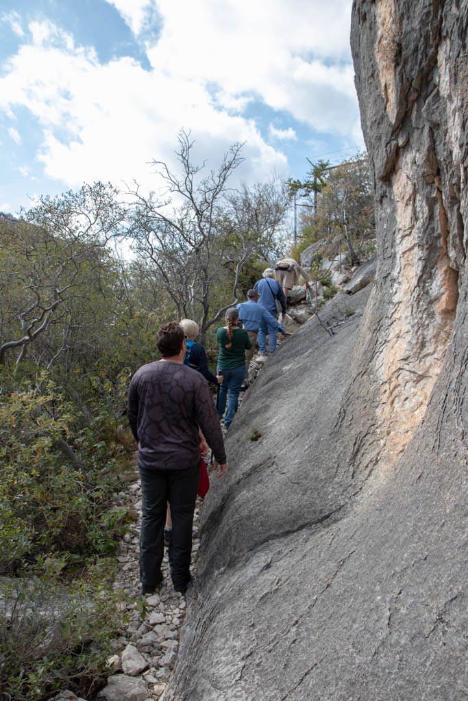 Climbing Up Canyon Wall Toward Pictograph Site