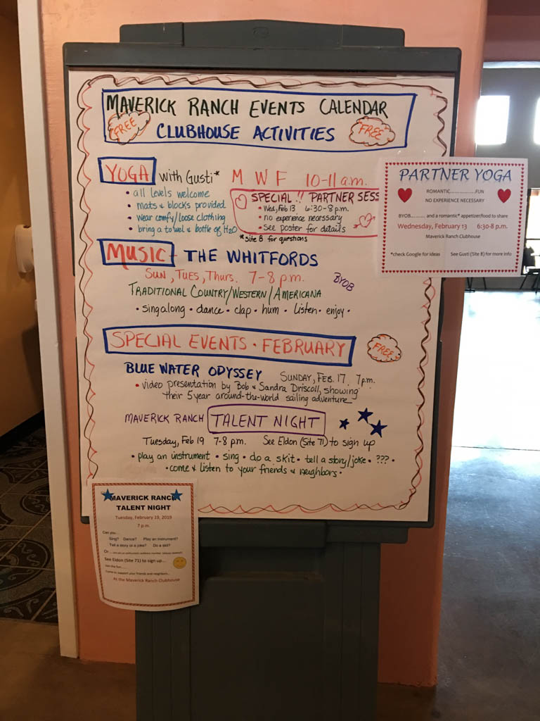 Clubhouse Activity Board