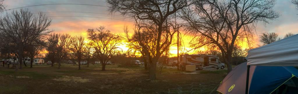 Sunset From Rio Grande Village Campsite