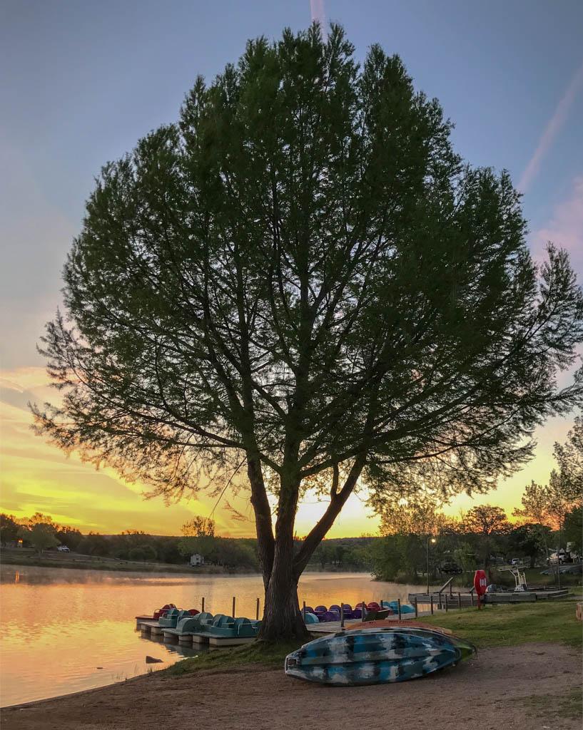 Rental Canoes At Sunrise