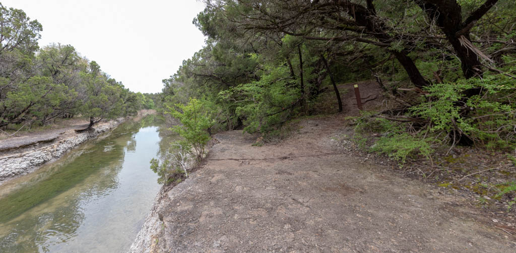 Spillway Trail Follows Camp Creek For Fifty Feet
