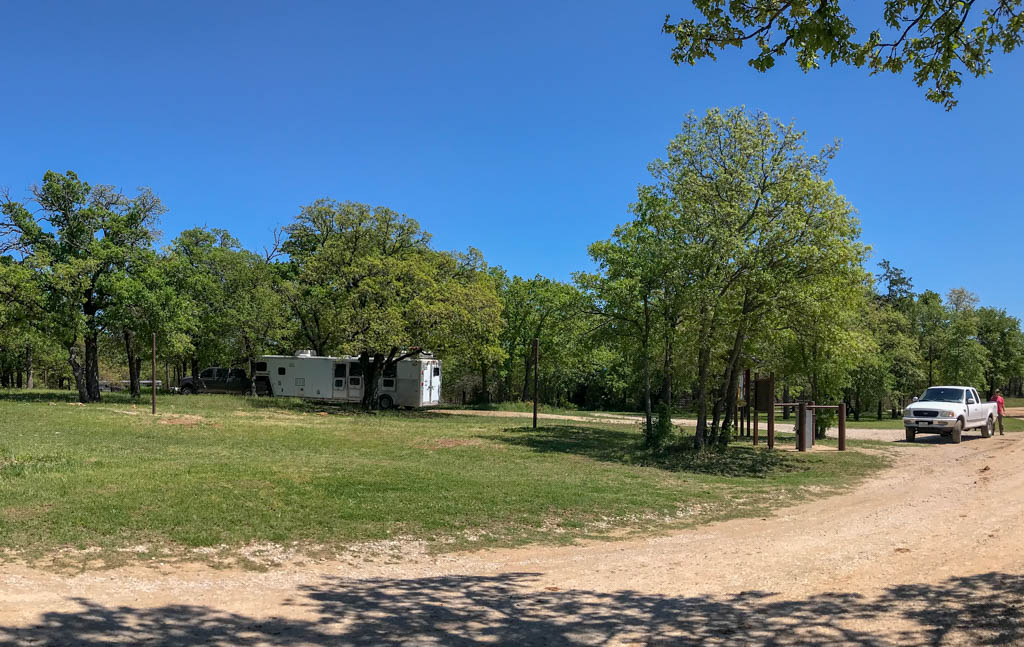 TADRE Point Campsite With Horse Trailer