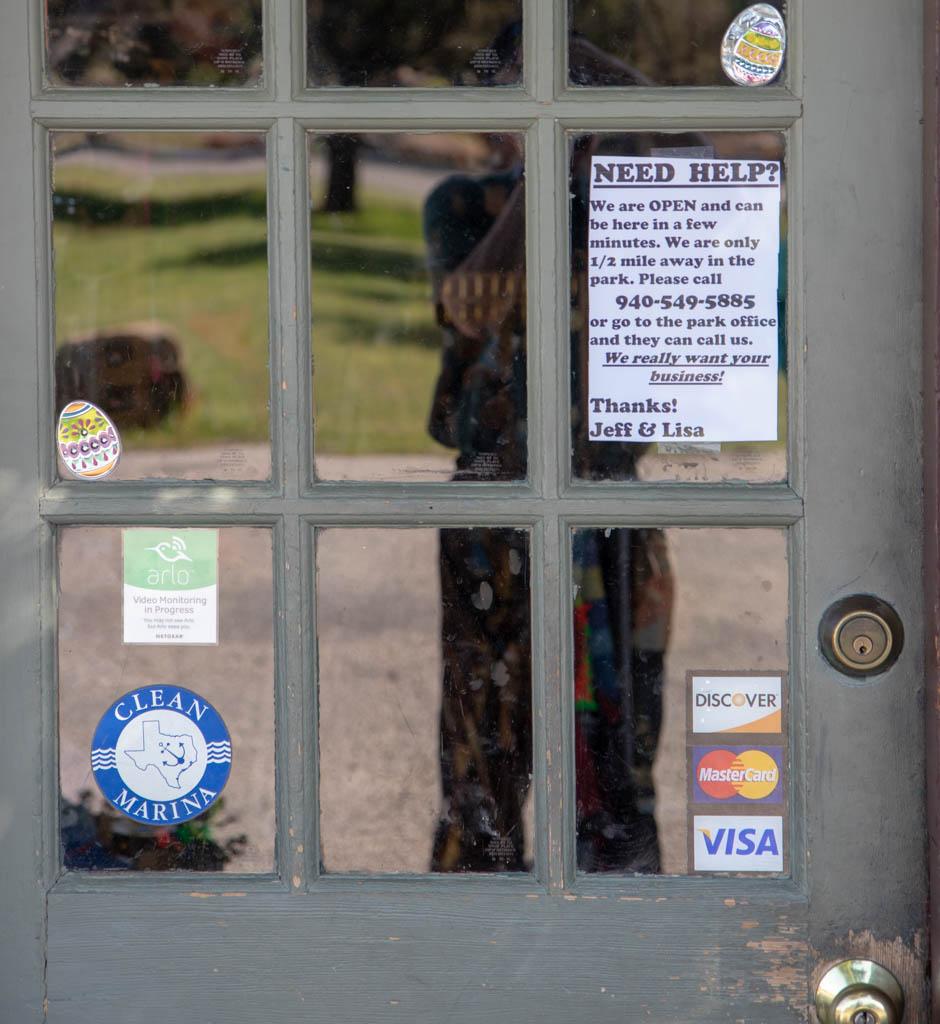 Park Store Door Window Notice