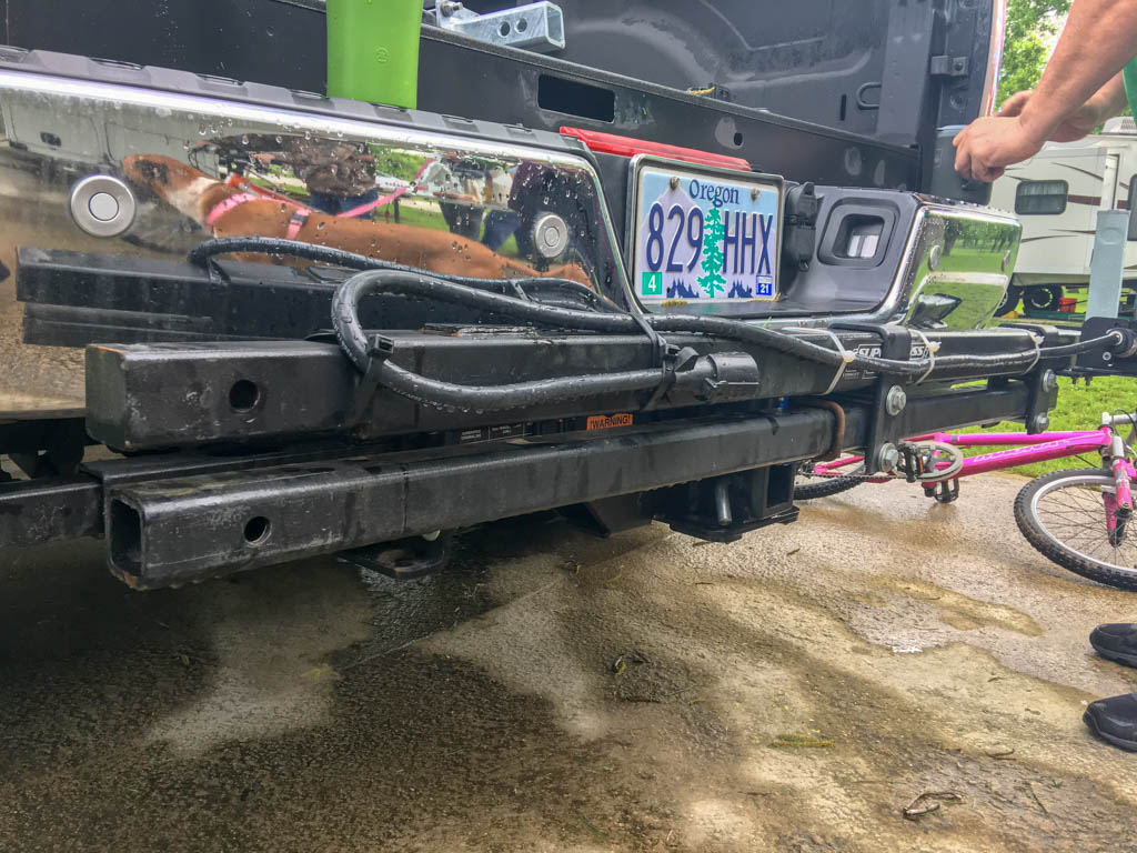 60-Inch Extension Bar Mounted On Hitch Receiver