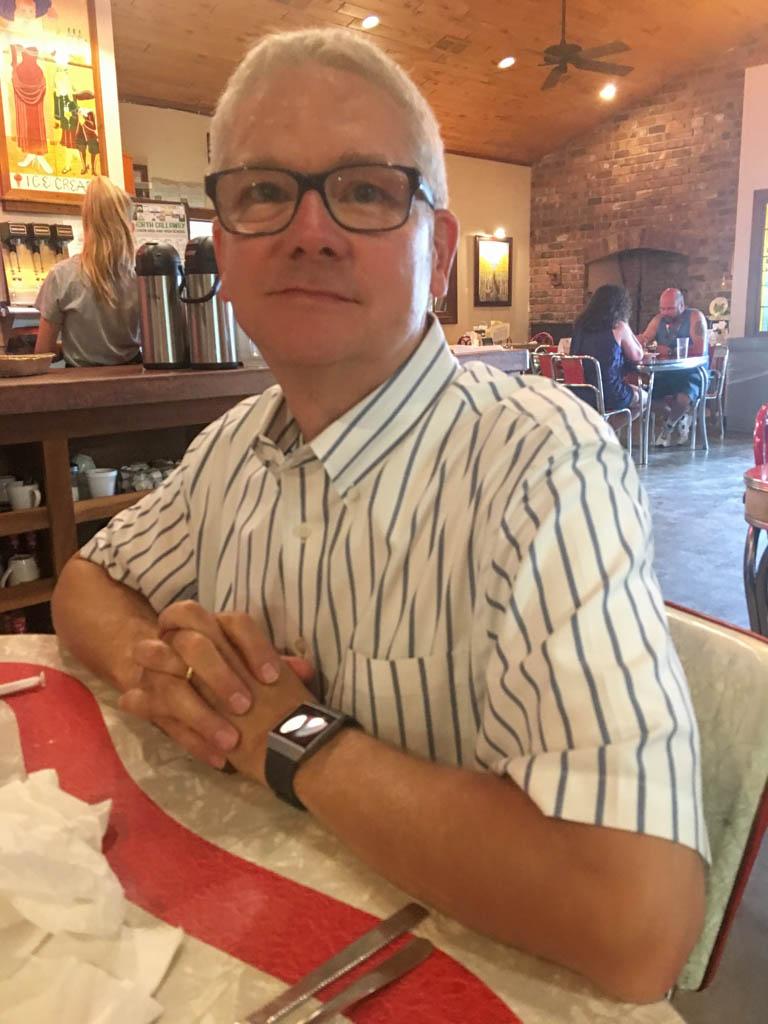 Larry in Crane's Museum & Shops/Marlene's Restaurant