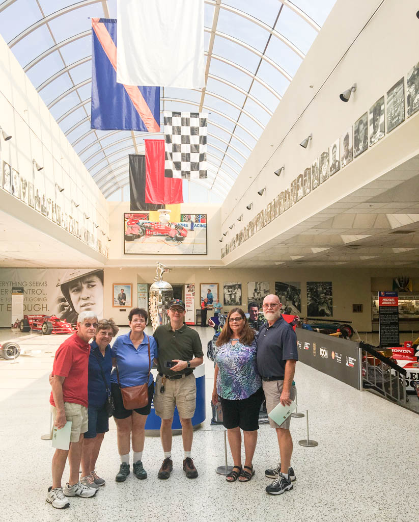 Our Gang In The Great Hall In Front Of The Indy 500 Trophy