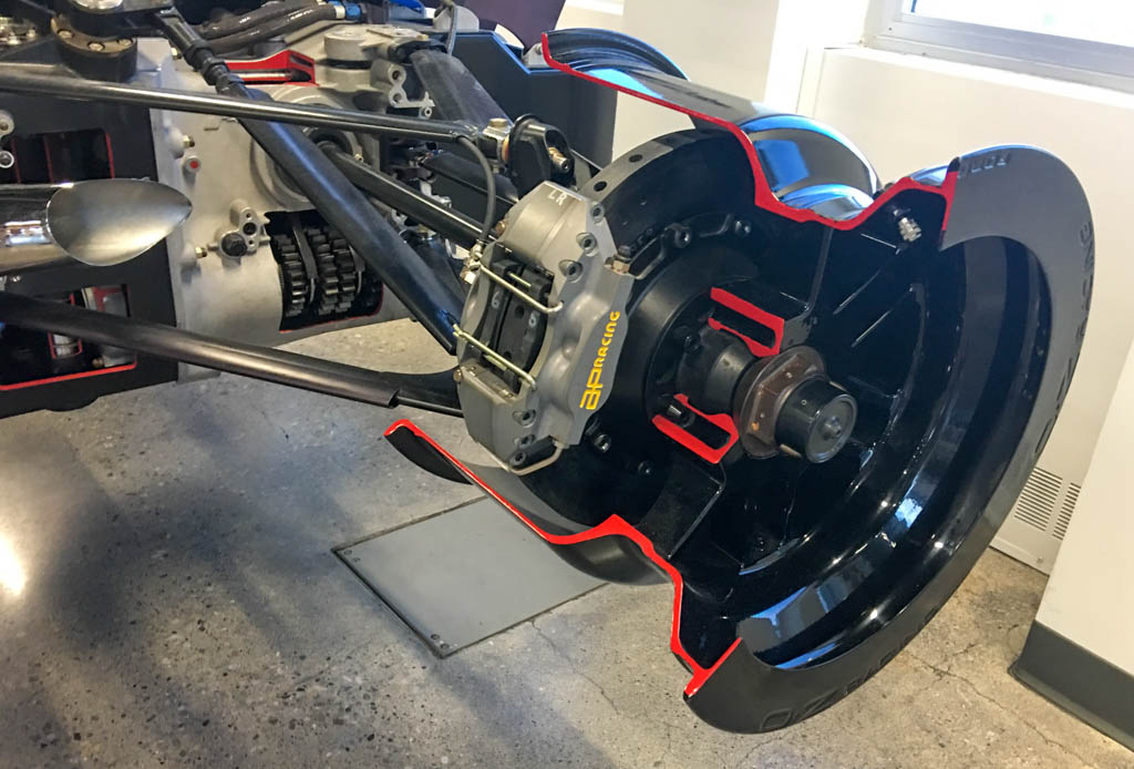 Race Car Rear Braking and Suspension Systems