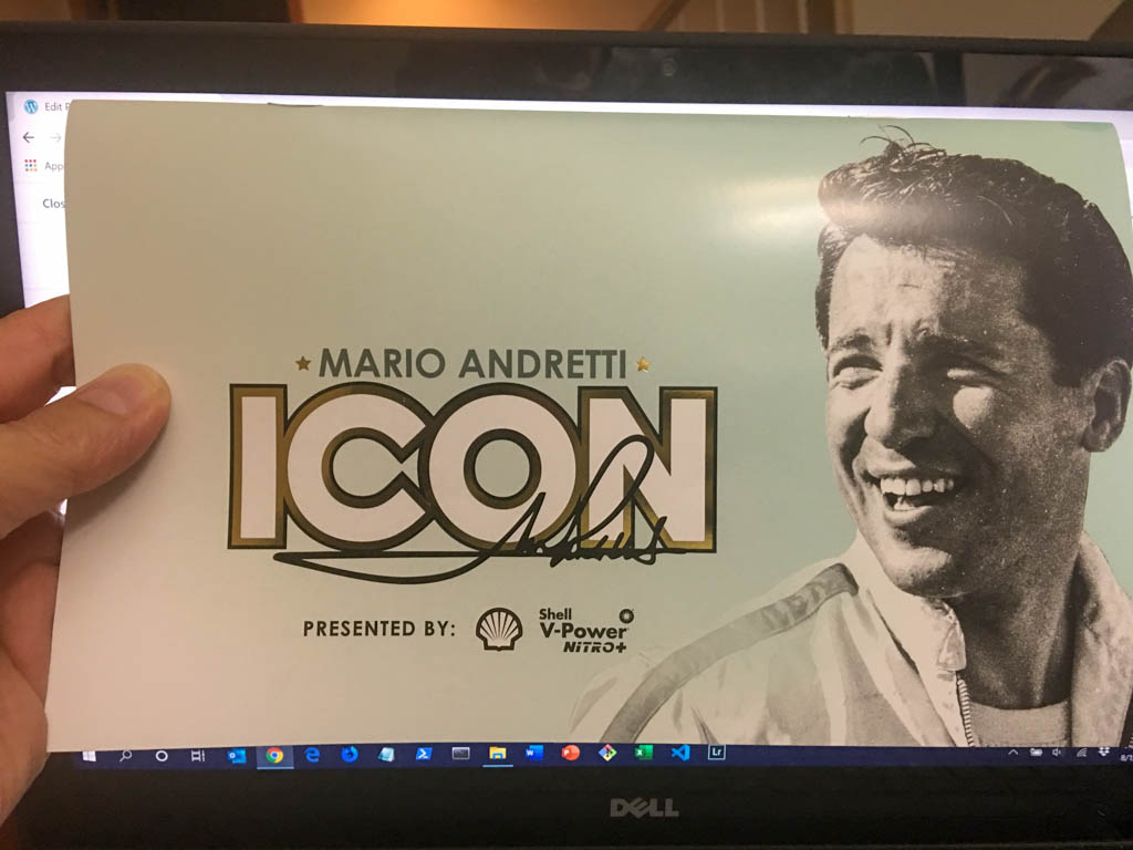 Museum Provided Mario Andretti Commemorative Booklet
