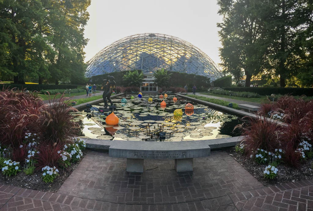 The Setting Sun Behind The Climatron