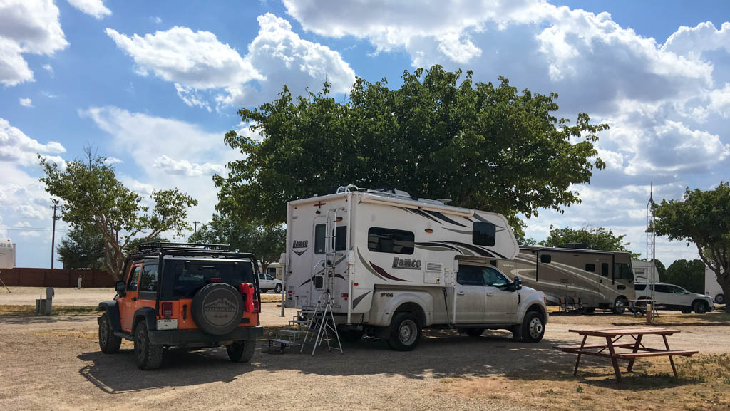 Lubbock KOA Campsite During The Afternoon