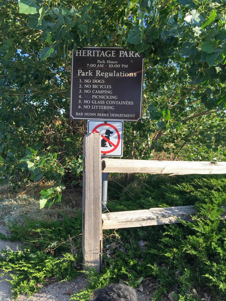 Bar Nunn Park Department Signage For Heritage Park