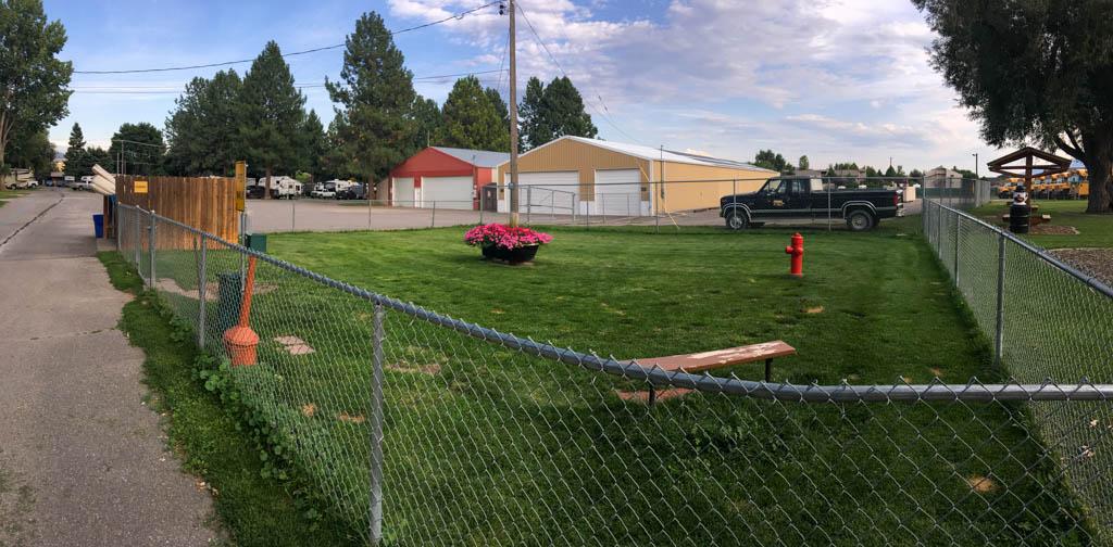 Dog Park Sharing Fence With Elmer's Park