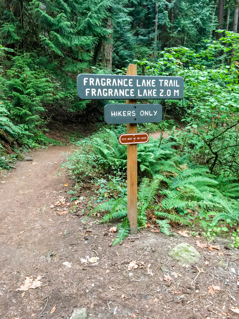 Fragrance Lake Trailhead On Interurban Trail