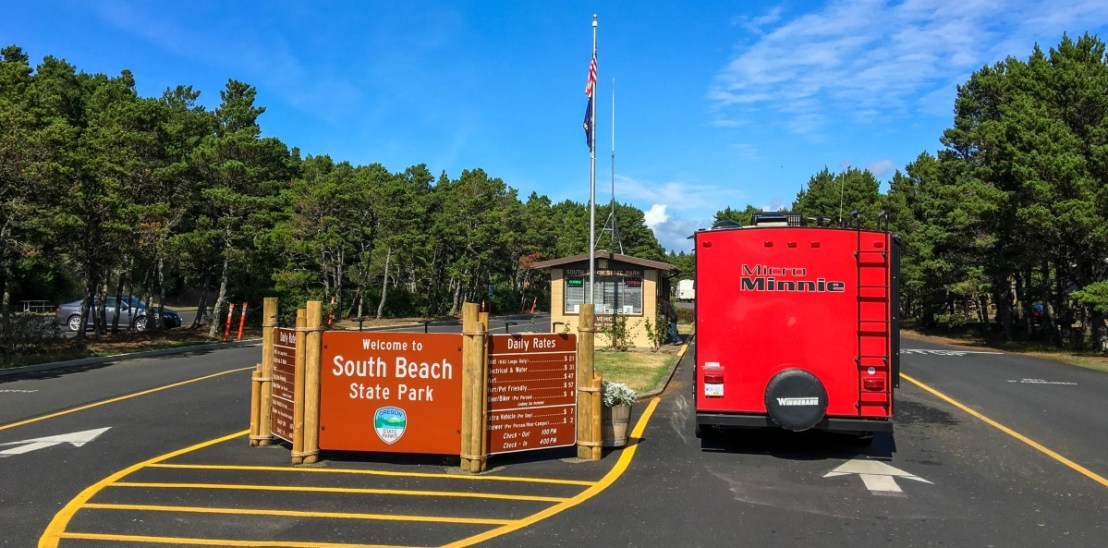 South Beach State Park Camping Loop Registration Booth