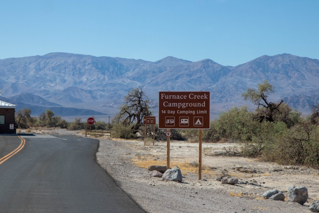 NPS Furnace Creek Campground Entrance