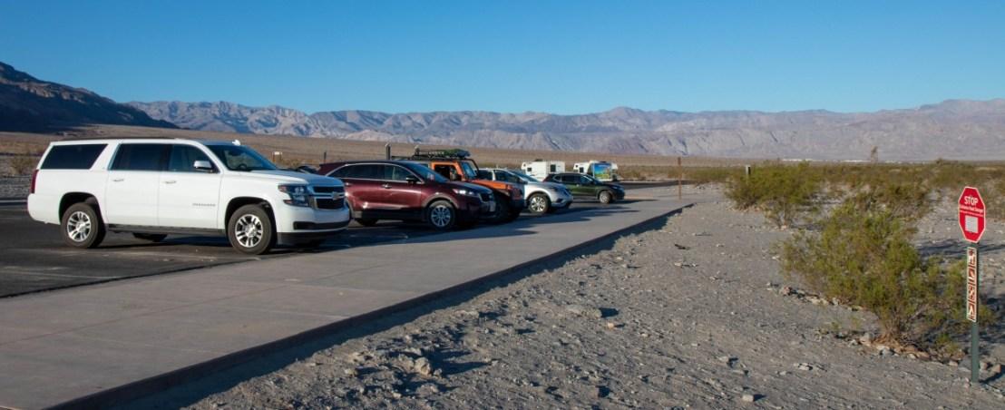 Death Valley National Park Mesquite Flats Sand Dunes Parking Lot
