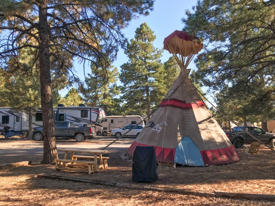 Teepee Themed Cabins