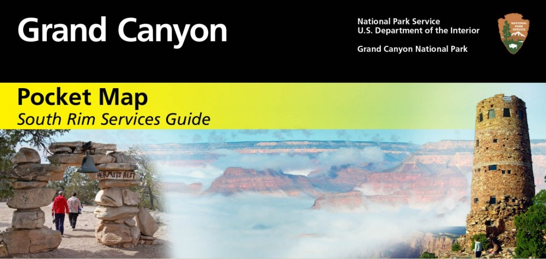 Grand Canyon Pocket Map South Rim Services Guide