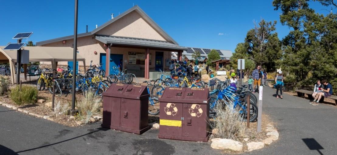 Bike Parking At Bike Rental and Cafe