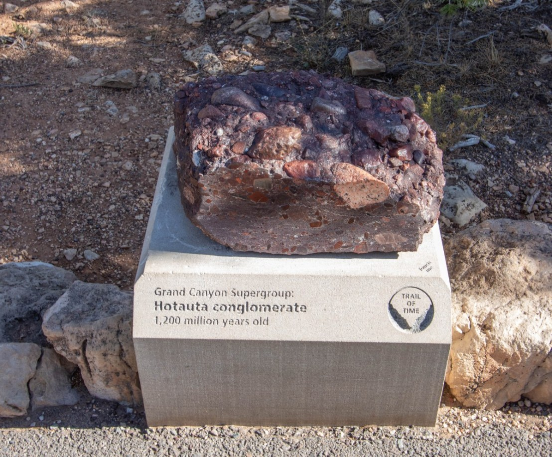 Grand Canyon Supergroup: Hotauta Conglomerate 1.2 Billion Years Old