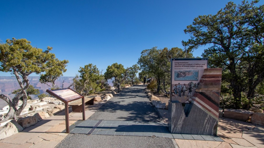 Grand Canyon National Park Trail of Time End