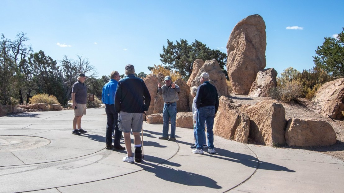 Guided Tour Group On Trail To Mather Point and Canyon Rim Trail